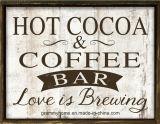 Chocolate quente e Café Bar Assinar sinais de café no Café sinais de casamento sinais sinais de Negócios os amantes de café dons sinais de madeira