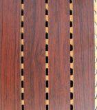 La ranura de insonorización acústica de madera de madera Panel de pared