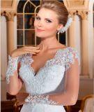 Robe 2016 de mariage nuptiale de lacet de mode de soirée de bal d'étudiants (WD1601)