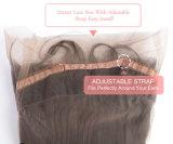 人間の毛髪の最も売れ行きの良い絹の上のGluelessのレースのかつら