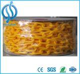 Encadenamiento plástico coloreado/tráfico que advierte el encadenamiento de seguridad amarillo