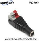 CCTVの「Press-Fit」端子ブロック(PC109)との女性のDC電源ジャック