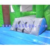 子供のココヤシの木の膨脹可能なジャンプのベッドのスライド