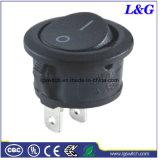힘 16A 2 위치 기구를 위한 둥근 단추 로커 스위치