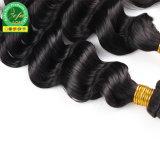 Необработанные бразильские Virgin 100% волос черный прав волнистые волосы