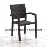 Diseño Popular Outdoor Indoor Silla apilable aluminio Rattan Silla (YTA PE098)