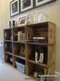 安い価格の古い方法スタック可能棚の木製の木枠