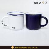 Esmalte de alta calidad Vintage taza de café