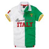 2018 горячая продажа контрастный цвет печать название страны мужской рубашки поло