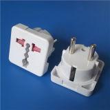 Plugue redondo de 2 ABS do adaptador do adaptador do soquete dos pinos (Y111)