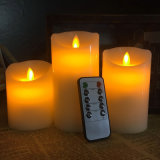 Remote Dancing Flameless des bougies de cire avec bougies LED de recharge USB