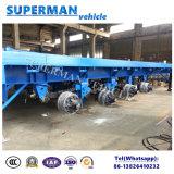 40FT remorque à plat de transport de cargaison lourde de 4 essieux