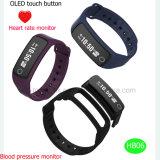 魅力の適性またはスポーツの腕時計のBluetoothのカスタムスマートなブレスレットHb06