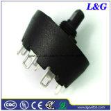 Питание 250 В переменного тока 8 А 5 позиции Mfr01 поворотный переключатель