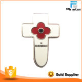 Fabricants Custom Beauty Metal Crafts Poppies Imitation Enamel Badge Metal Emballage commémoratif Badges en métal