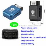 Для защиты от краж мини-OBD2 GPS GPS Tracker с аварийный сигнал частоты вращения T206