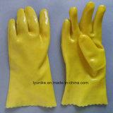 Желтый ПВХ покрытие водонепроницаемым промышленных перчатки