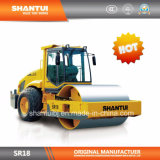 Shantui официальным производителем полное гидравлическое одного барабана Одновальцовый каток вибрации (SR18)