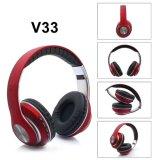 Fone de ouvido Bluetooth com a FM e suporte, Micro SD V33