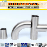 Ss304, 304L, 316, Polished Sanitary Stainless Steel Welded Food Grade Fittings