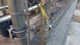 직류 전기를 통한 PVC 입히는 안전 체인 연결 메시 담