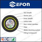 12/24/36/72/96/144/288 di memoria tutto il cavo ottico della fibra autosufficiente dielettrica (ADSS)