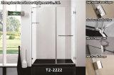 Ливень ванной комнаты двери амбара коробки ливня Tempered стекла приложения ливня шарнира нержавеющей стали стальной
