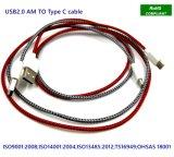 De stof Gevlechte Nylon USB2.0 Kabel van de Lader van het Type C Snelle