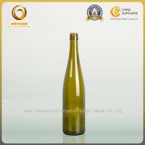 ラインのワイン・ボトル750mlは取り除くねじ帽子(1300年)が付いている緑ガラスのワイン・ボトルを