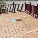 WPC справляясь антисептиковый деревянный Decking для напольной пользы в террасе