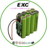 李イオン18650 11.1V 2600mAh電池のパックExc 9.6V 1100mAh