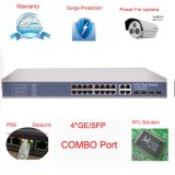 16ポートPoe + 4コンボSFP/TxのファイバーのアップリンクPoeスイッチ