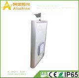12W personalizado novo integrou tudo em uma luz de rua solar com as microplaquetas do diodo emissor de luz 24PCS 3030