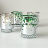 Bunte Überzug-Kerze-Glasglas für Hauptdekor