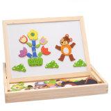 Brinquedos para crianças de madeira quebra-cabeças magnéticas de bricolage