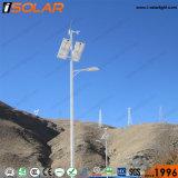 25W 5 mètre de vent solaire hybride Rue lumière à LED