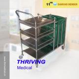 Chariot de blanchisserie de l'hôpital en acier inoxydable (thr-MT001)