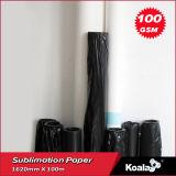 우수한 100GSM는 건조한 염료 승화 종이 의복 롤 크기를 위한 단식한다