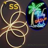 LED Bi-Side decorativas luzes flexível de néon vermelho/azul/verde/amarela 24 V para construir