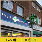 P10 LED impermeable al aire libre farmacia cruz mostrar