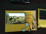 Modulo della cartolina d'auguri dello schermo dell'affissione a cristalli liquidi di DIY 10inch il video per l'opuscolo per lo ringrazia cardare