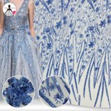Comercio al por mayor Nuevo estilo Glitter nupcial de boda vestido de encaje bordado Sequin tejido