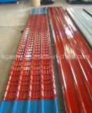 PPGI/PPGLは塗られた亜鉛が付いている金属の屋根ふきのシートPre-Painted電流を通された鋼鉄タイルを波形を付けた