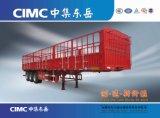 Cimc 3 Wellen-Zaun-Ladung-halb Schlussteil mit der Gooseneck-Art wahlweise freigestellt für Vieh-Kohle-Transport