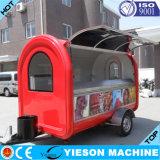 Stalle électrique mobile de remorque de chariot de nourriture de repas rapide