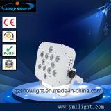 4*18W Rgbawの紫外線6in1立方体4電池DMXの無線同価ライト