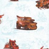 Carta da parati dei bambini di disegno dell'automobile per la stanza dei ragazzi
