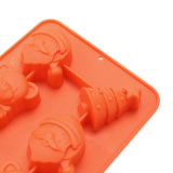 La FDA délivrent un certificat le moulage matériel de silicones de catégorie comestible, le père noël a formé le moulage de /Chocolate de moulage de pudding de silicones de forme d'ours de forme d'arbres de /Christmas peu