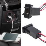 Chargeur duel neuf de ports USB de 5V 2.1A pour le véhicule de Toyota