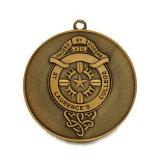 Mano d'ottone antica Malesia del deposito del cane della medaglia del ricordo dell'università di promozione